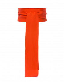 Orange Wide Satin Ribbed Belt