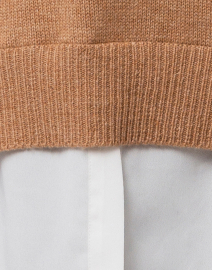 Brochu Walker - Camel Sweater with White Underlayer
