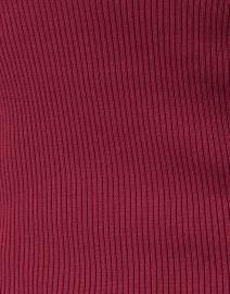 Edward Achour - Merlot Slim Knit Top