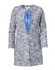 Edge to Edge Blue and White Tweed Jacket
