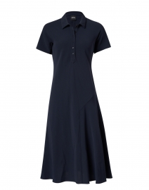 Navy Polo Midi Dress
