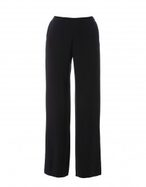 Midnight Navy Crepe Silk Wide Leg Pant