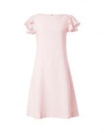 Kaia Apricot Pink Wool Crepe Dress