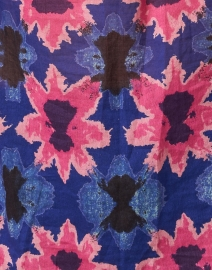 Banjanan - Madison Pink and Blue Shibori Cotton Voile Blouse