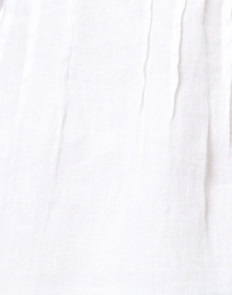 120% Lino - White Linen Pintucked Shirt
