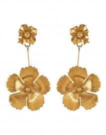 Kalina Gold Floral Drop Earring