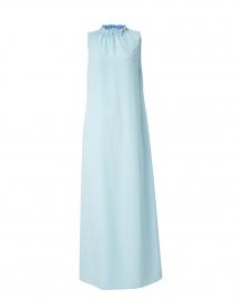 Sky Blue Poly Crepe Maxi Dress
