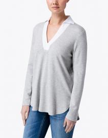 Finley - Portia Grey and White Knit Top