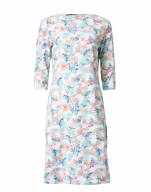 Propriano Imprim Blue and Pink Floral Jersey Dress