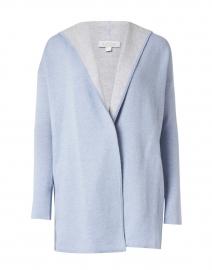 Light Blue Reversible Cotton Cashmere Cardigan