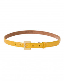 Sun Yellow Lizard Skin Belt