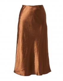 Alessio Copper Satin Skirt