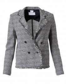 Jahda Navy and White Plaid Tweed Jacket