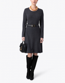 Kinross - Charcoal Grey Cashmere Swing Dress