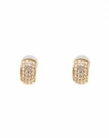 Liesel Crystal Antique Gold Mini Hoop Earring