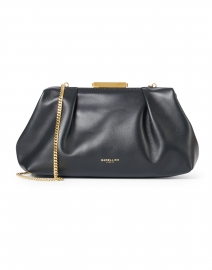 Mini Florence Black Clutch with Metal Chain