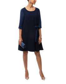 Weill - Navy Dress with Bow