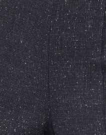Piazza Sempione - Monia Blue and Black Speckled Plaid Stretch Pant