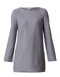 Grey Sequined Cotton Sweater