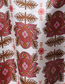 Le Sarte Pettegole - Pink and White Floral Silk Top