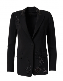 Britta Black Embroidered Blazer
