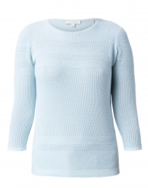 Pale Blue Mixed Stitch Cotton Sweater