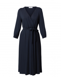 Dark Navy Jersey Wrap Dress