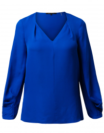 Marissa Azure Blue Silk Blouse