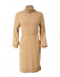 Cora Camel Cashmere Cotton Dress