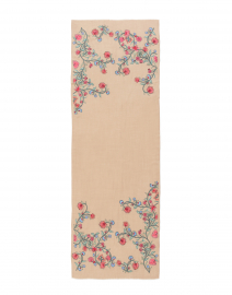 Janavi - Multicolored Floral Embroidered Wool Scarf