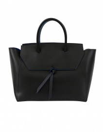 Loren Black Leather Tote