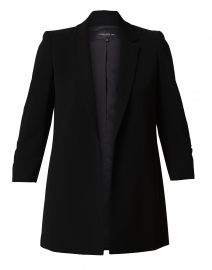 Cole Black Ruched Sleeve Jacket