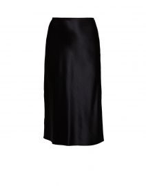 Frances Black Silk Satin Skirt