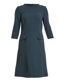 Karrie Iron Grey Wool Crepe Dress