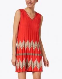 D.Exterior - Red Chevron Knit Dress