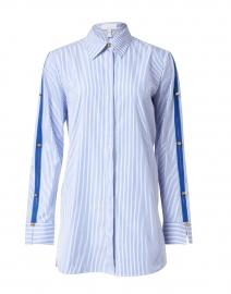 Nady Blue and White Pinstripe Cotton Poplin Shirt