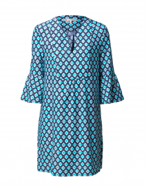 Kerry Turquoise Mini Diamond Printed Dress