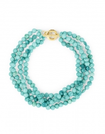 Amazonite Bead Triple Strand Necklace