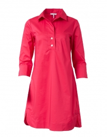 Aileen Bright Pink Stretch Cotton Dress