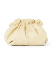 Willa Almond Leather Cinched Clutch with Chain