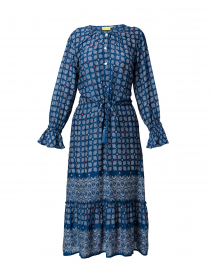 Margoa Blue Starry Border Dress