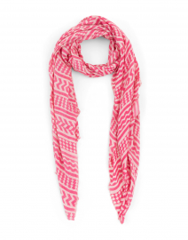 Pink Geometric Modal and Cashmere Scarf