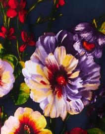Samantha Sung - Audrey Indigo Garden Print Stretch Cotton Dress
