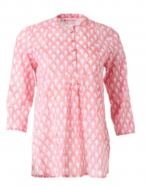 Dixie Pink Leaf Print Cotton Top