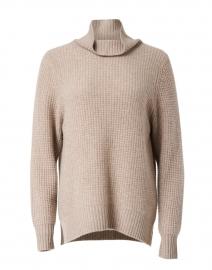 Oak Heather Cashmere Waffle Knit Sweater