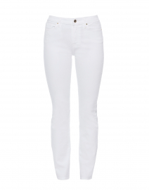 White Stretch Slim Straight Denim Jean