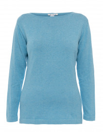 Blue Pima Cotton Sweater