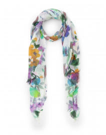 Fresh Cut Floral Silk and Cashmere Scarf