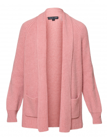 Vintage Rose Ribbed Cashmere Cardigan