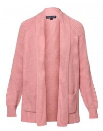 Vintage Rose Ribbed Cashmere Cardigan